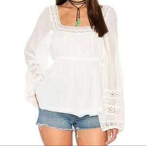 Free People Moonchaser Top Ivory NWT